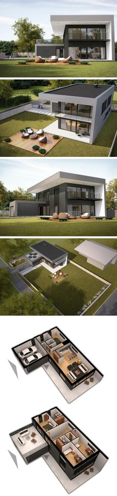 Modern house in vilnius by NG architects www. - Modern house in vilnius by NG architects www. Contemporary Architecture, Interior Architecture, Contemporary Houses, Building Architecture, Architecture Student, Interior Modern, Modern Decor, Casas Containers, Design Exterior