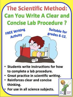 Science Stuff: Can Your Students Write a Clear and Concise Lab Procedure?