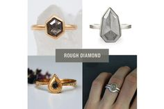 A selection of the best modern, handmade grey diamond and salt and pepper diamond engagement, promise (or any reason) rings independent designers Grey Diamond Engagement Ring, Grey Diamond Ring, Diamond Stacking Rings, Diamond Promise Rings, Rough Diamond, Modern Wedding Rings, White Gold Wedding Bands, Gold Bands, Eternity Rings