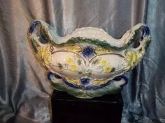 (sergioschw) antigo vaso jarra centro me mesa anos 50