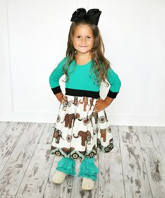 Look at this Turquoise Bali Sarah Dress - Infant, Toddler & Girls on #zulily today!