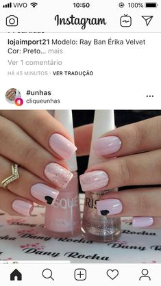 Here are gorgeous nail designs for valentine's day. From the traditional red to pink nail designs and many more. Perfect Nails, Gorgeous Nails, Love Nails, Pink Nails, Pretty Nails, My Nails, Glitter Nails, Nagellack Trends, Holiday Nails