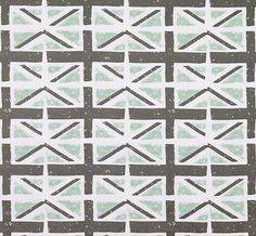 Aqua Grey Union Jack Fabric Designer Home Decor Fabric By The Yard
