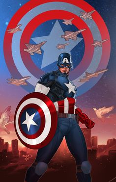 Cartoons And Heroes — paulrenaud: Captain America White #1 variant...