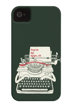 Your my Type Barely There Phone Case. This one will be your type of case Great integration of the text joke along with the typewriter character. wear this & show it to a someone you really like.  http://zocko.it/LDyfw
