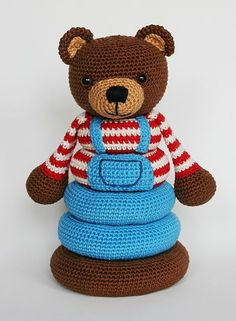 Stacking toy pattern by Christel Krukkert