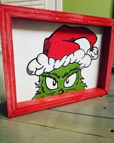 Items similar to Christmas Grinch art on Etsy Christmas Grinch art scandi christmas, christmas amigurumi, christmas giftwrap Grinch Party, Grinch Christmas Party, Scandi Christmas, Christmas Paintings On Canvas, Christmas Canvas, Christmas Art, Etsy Christmas, Snoopy Christmas, Christmas Projects