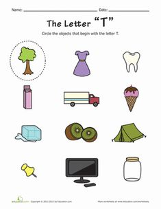 27 Best things that start with a letter t images | Early education