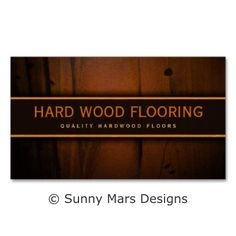 Hardwood Flooring Wooden Floors Faux Wood Business Cards Template by sunnymars of SunnyMarsDesigns in association with Zazzle.  This customizable flooring business card features a printe of a dark Baltic pine distressed wood background. Perfect for flooring companies, floorers, floor installers or carpenters. Personalize it by adding your own name, business name and other personal text to it.  Click through to see more..