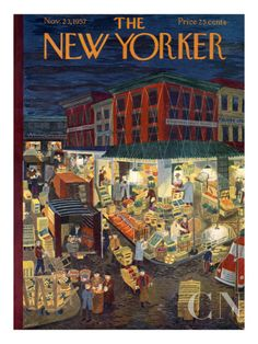 The New Yorker Cover - November 23, 1957 Poster Print by Ilonka Karasz at the Condé Nast Collection