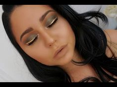 Camel & Olive Eyes + Gold Liner | Chit Chat Tutorial - YouTube
