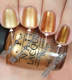 """OPI: Nordic Collection Comparisons Pointer to pinkie; 2 coats of each: OPI """"50 Years of Style"""", OPI """"OPI With A Nice Finn-ish"""", OPI """"Rising Star"""" & Deborah Lippmann """"From Rags To Riches"""""""