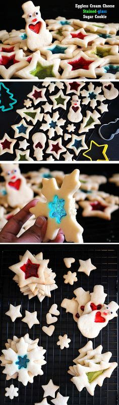 Merry Christmas !!! Make an easy and delicious Eggless Cream Cheese Stained-glass Sugar Cookie for this holiday season.