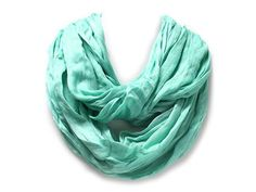 Mint Colored Infinity Scarf