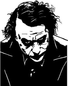 Heath Ledger's Joker Vinyl Decal