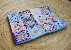 """Двойная мыльница """"Марокко"""" - керамика Katya Geza."""