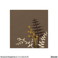 Botanical Simplicity Wood Wall Art