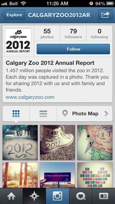 #CalgaryZoo releases the world's first annual report on Instagram