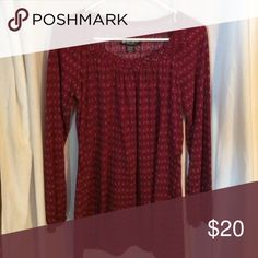 Beautiful comfortable blouse red, black, and gray blouse Self Esteem Tops Blouses