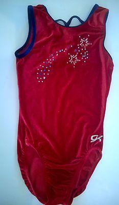 GK Gymnastic Leotard Girls Size Medium Red