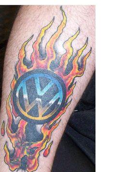 Volkswagen logo tattoo