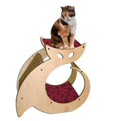 Cattino - Cat Scratcher, Kitty Condo & Cat Perch Pet Furniture with cat nip. via Etsy. Contemporary Cat Furniture, Contemporary Design, Gatos Cat, Cat House Diy, Cat Perch, Cat Scratcher, Cat Condo, Pet Furniture, Pet Beds