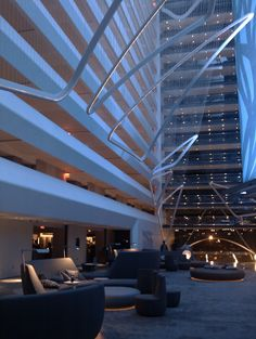 love the lobby design at Hilton Conrad Hotel NY
