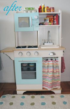 Play Kitchen Makeover Minus Hammer and Nails   Apartment Therapy