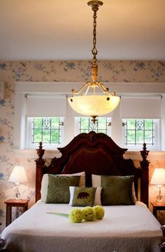 Beds | The Summerfield Room at the Olde Square Inn located in Mount Joy, PA .  love vintage Jo at www.adorepurses.com