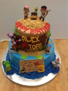Jake And The Neverland Pirates Cake 1 Custom Birthday Cakes Finding
