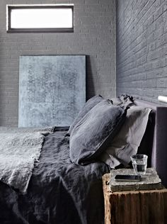 Discover manly interior designs with the top 80 best bachelor pad men's bedroom ideas. Explore cool masculine spaces fit for any royal king to sleep. Home Bedroom, Bedroom Decor, Bedroom Ideas, Gray Bedroom, Master Bedroom, Charcoal Bedroom, Grey Room, Master Suite, Interior Inspiration
