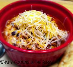 Crock Pot Queso Chili