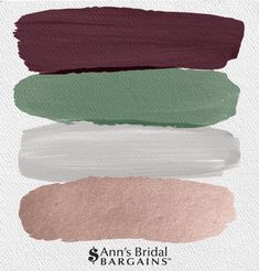 The Perfect Palette: Burgundy, Fern, Gray and Rose Gold. - The Perfect Palette: Burgundy, Fern, Gray and Rose Gold.