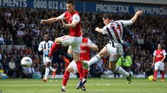 West Brom 2-3 Arsenal: Yossi Benayoun gives Arsenal an early lead, but a four-minute salvo puts West Brom ahead. Shane Long scored the first and then Graham Dorrans adds a second. It's England-bound Roy Hodgson's last game in charge of the Baggies