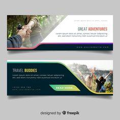 Blue and white business banner | Free Vector Post Design, Web Design, Graphic Design, Free Banner Templates, Best Banner Design, Background Design Vector, Banner Printing, Web Banner, Memphis