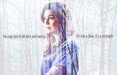 dark and twisty. it's not a flaw, it's a strength. meredith grey.