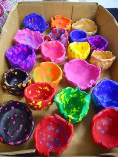 I love kindergarten clay pinch pots!
