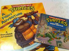 Three Vintage Teenage Mutant Ninja Turtles Books. $6.00, via Etsy.