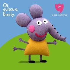 Emily, a Elefanta É amiguinha da Peppa e é uma nova aluna.Tem um irmãozinho chamado Edmund que é da mesma idade que o George e o Richard. #emily #elephant #peppapig #party #cute #lycoisasecoisinhas