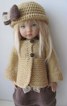 Idea for a hand knit sweater for 18 inch doll