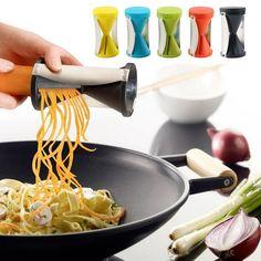 Spiral Slicer Cutter Kitchen Tool Vegetable Fruit Spiralizer Twister Peeler EC #UnbrandedGeneric