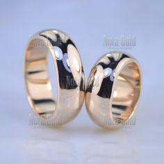 e906ae4d7a38 Широкие плоские обручальные кольца бублики из красного золота (Вес пары  26  гр.)
