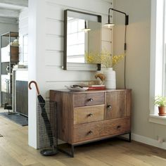 Atwood Chest  | Crate and Barrel pinned by Renee living room?