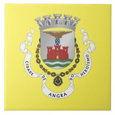 Angra do Heroismo* Crest Ceramic Tile