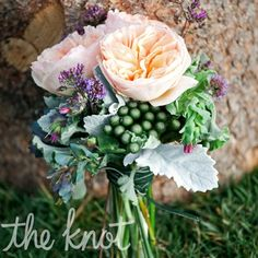 Kate carried a romantic bouquet of local flowers including garden roses, white swan coneflowers and Artemisia sage.