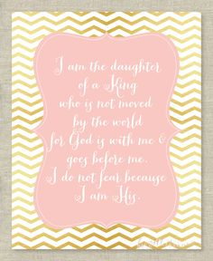 Bible Verse Wall Art Print  Girls  I am the by brigetteturner, $9.50