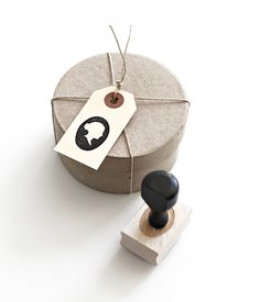 Cameo silhouette hand stamp from Besotted Brand | Love this!