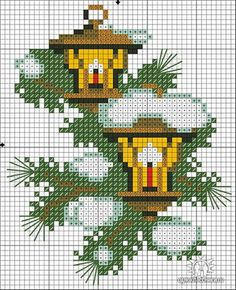Winter Scene Cross Stitch Pattern