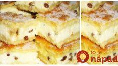Strapatý tvarohový koláč z Trnavského jarmoku: Najlepší tvaroháč pod slnkom, tajomstvo je v tej náplni! Alphabet Cake, Czech Recipes, Desert Recipes, Pancakes, French Toast, Deserts, Food And Drink, Sweets, Chocolate