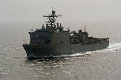 Amphibious dock landing ship USS Germantown (LSD 42).